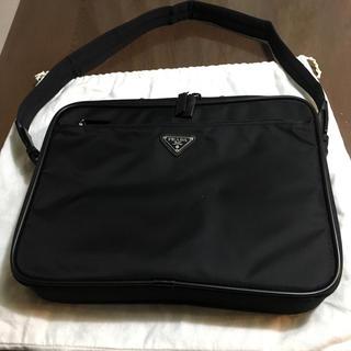 プラダ(PRADA)の美品PRADA プラダビジネス パソンコ用バック:ショルダー付き(ビジネスバッグ)