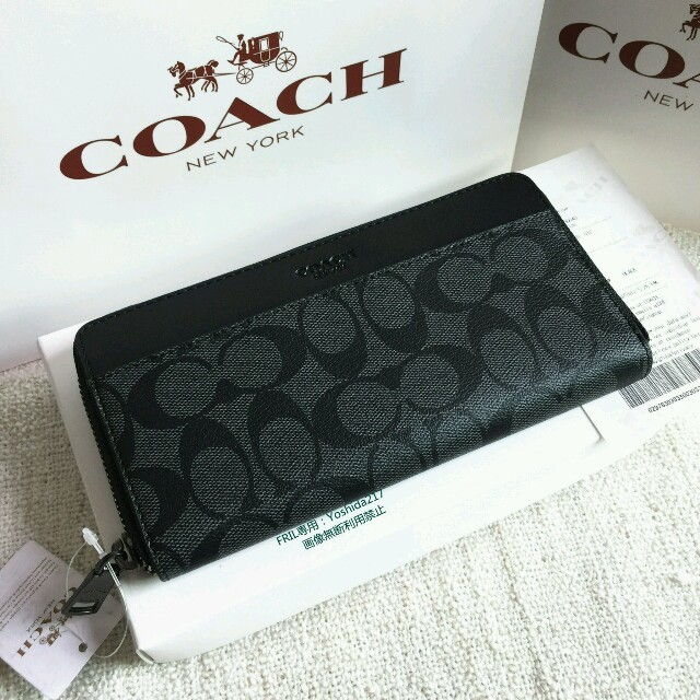 size 40 b5c2d 0fe89 COACH長財布 コーチ正規品 F75000 ブラック メンズ用財布 新品 | フリマアプリ ラクマ
