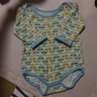 272ca9d11ada9 シマムラ(しまむら)の男の子 80 車 ロンパース ベビー服 赤ちゃん ベビー 長袖 水色 緑 車