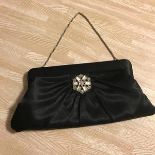 アクセサライズ(Accessorize)のパーティバッグ フォーマル クラッチバッグ ショルダーバッグ ハンドバッグ 黒(クラッチバッグ)