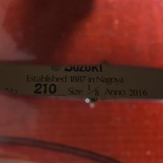 スズキ(スズキ)のSUZUKI No.210 1/8 アウトフィット・バイオリン(ヴァイオリン)