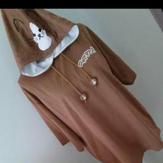 シマムラ(しまむら)の鴻池剛 猫のぽんたのニャァァン なりきりパーカー LL(Tシャツ/カットソー(半袖/袖なし))