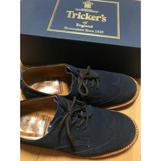 トリッカーズ(Trickers)のトリッカーズ ネイビー スウェード(ローファー/革靴)