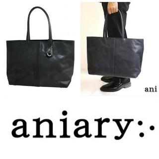 アニアリ(aniary)のほぼ未使用aniaryアイディアルレザー ILシンプルトート/02-02002(トートバッグ)