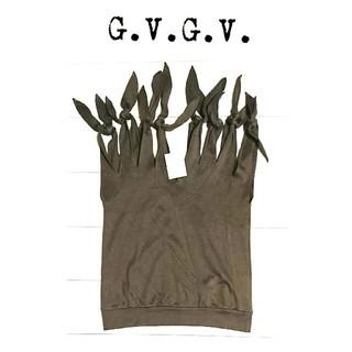 ジーヴィジーヴィ(G.V.G.V.)の未使用 g.v.g.v リボン ノースリーブ トップス レディース vネック(カットソー(半袖/袖なし))