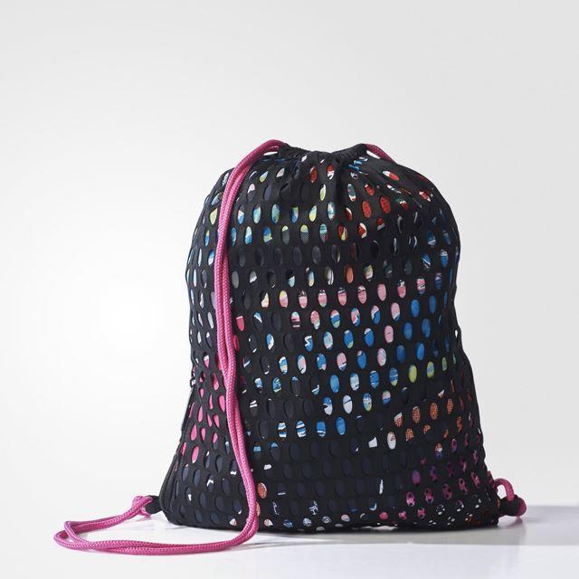 adidas(アディダス)の【新品・即日発送】adidas オリジナルス ナップサック メッシュ 黒/ピンク レディースのバッグ(リュック/バックパック)の商品写真