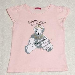 GU - クマ柄Tシャツ(ピンク)140cm♪