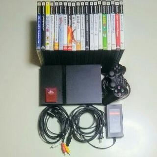 プレイステーション2(PlayStation2)のすぐに遊べるPS2本体(SCPH-70000)+ソフト20本セット(家庭用ゲーム本体)