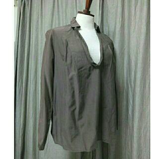 ムジルシリョウヒン(MUJI (無印良品))の無印良品ブラウンシルクコットンシャツ(シャツ/ブラウス(長袖/七分))