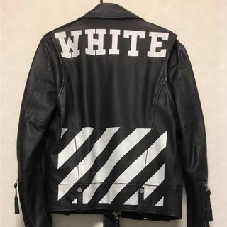 オフホワイト(OFF-WHITE)のOFF-WHITE オフホワイト レザージャケット(レザージャケット)