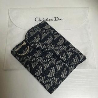 クリスチャンディオール(Christian Dior)の美品✨Dior トロッターカードケース(パスケース/IDカードホルダー)