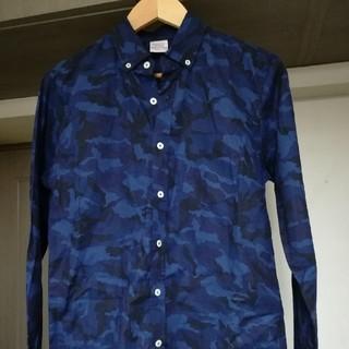 オーセンティックシューアンドコー(AUTHENTIC SHOE&Co.)の【Authentic 】ブルー×ブラック迷彩柄 シャツ(シャツ)