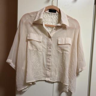 クリックス(CRYX)のバックレースシャツ(シャツ/ブラウス(半袖/袖なし))