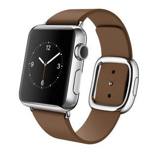 アップルウォッチ(Apple Watch)のアップル Apple Watch 38mm ステンレススチールケースとブラウン(スマートフォン本体)