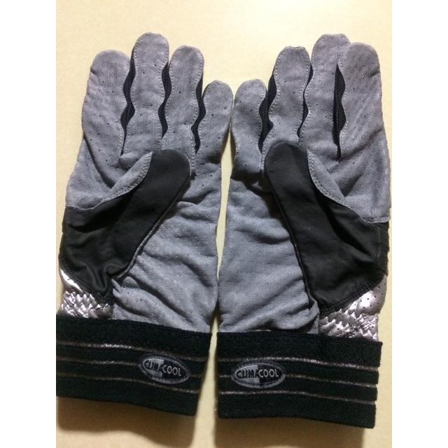 adidas(アディダス)のタイムセール!両手シルバーホログラムadidasバッティンググローブXL羊革 スポーツ/アウトドアの野球(グローブ)の商品写真