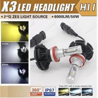PHILIPS X3 LEDバルブ H8 H11 H16 12000LM