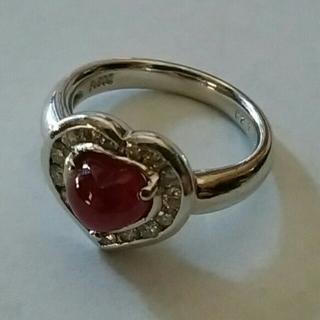 プラチナ ルビー ダイヤモンド ピンキーリング pt900(リング(指輪))