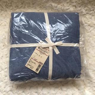 ムジルシリョウヒン(MUJI (無印良品))の敷き布団カバー ダブルサイズ(シーツ/カバー)