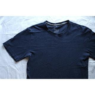ムジルシリョウヒン(MUJI (無印良品))の無印 紺色ティーシャツ(シャツ/ブラウス(長袖/七分))