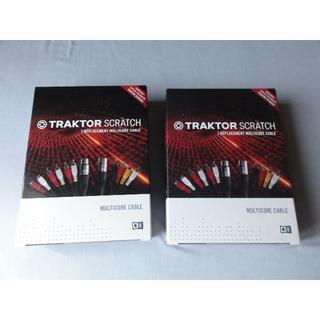Traktor scratch pro 専用マルチコアケーブル 2セット(ターンテーブル)