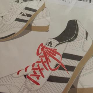 アディダス(adidas)の靴紐白 二足分(その他)