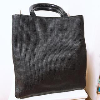 サック(SAC)のcherosita ウッドハンドルバッグ ブラック(ハンドバッグ)