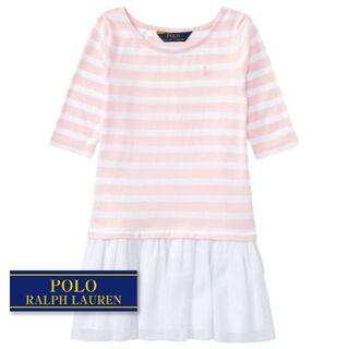 ラルフローレン(Ralph Lauren)の☆新品☆115 ラルフローレン Tシャツドレス ピンク 2231(ワンピース)