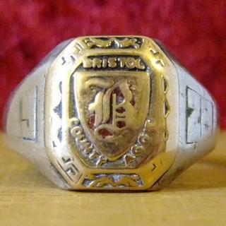 シルバー製 カレッジリング(リング(指輪))