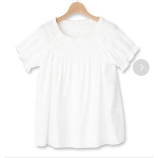 サンカンシオン(3can4on)のパフスリブラウス チュニック(シャツ/ブラウス(半袖/袖なし))
