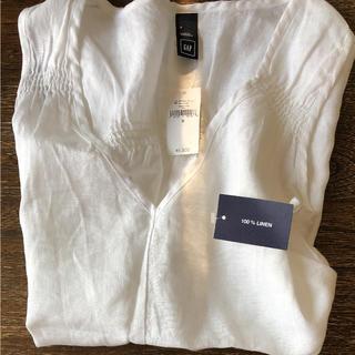 ギャップ(GAP)のGAP☆ギャップ 新品リネンシャツ(シャツ/ブラウス(半袖/袖なし))
