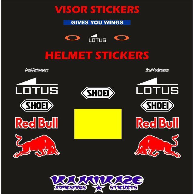 【新品】 マルク・マルケス ヘルメット用 ステッカー16枚セット 自動車/バイクのバイク(ステッカー)の商品写真