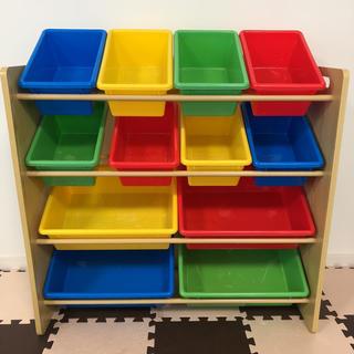 おもちゃ ラック 収納 キッズ ベビー 棚 家具 箱 プラスチック 木製(収納/チェスト)