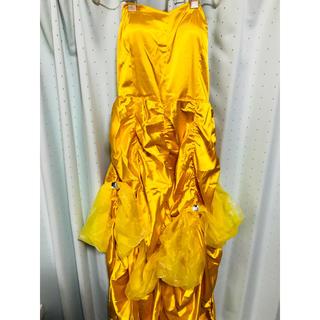 ディズニー(Disney)の美女と野獣 ベル 黄色 ドレス 手袋 (衣装一式)