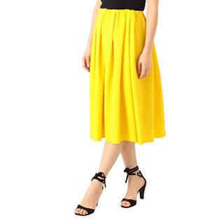 デミルクスビームス(Demi-Luxe BEAMS)のデミルクスビームス イエロースカート  38(ひざ丈スカート)