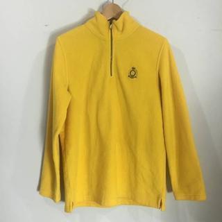 ラルフローレン(Ralph Lauren)のUSED ラルフローレン LAUREN フリースパーカー 黄色 M 160630(パーカー)