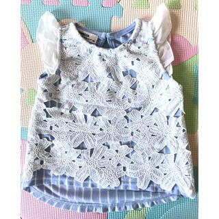 シマムラ(しまむら)の子供服 サイズ80 女の子*(シャツ/カットソー)