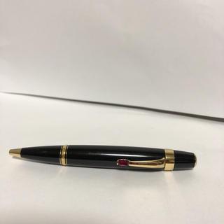 モンブラン(MONTBLANC)のモンブラン ポールペン黒赤石 正規品 美中古品(ペン/マーカー)