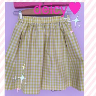 デイシー(deicy)のdeicyチェックスカート(ひざ丈スカート)
