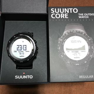 スント(SUUNTO)のスントコアレギュラーブラック/Suunto Core Regular Black(腕時計(デジタル))