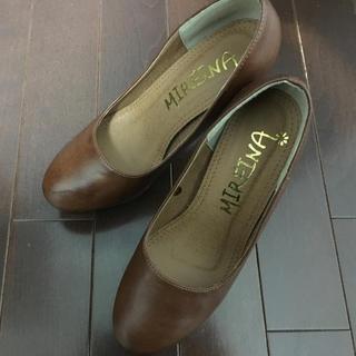 MIREINAハイヒールパンプス12cmヒール茶色ブラウンS(ハイヒール/パンプス)