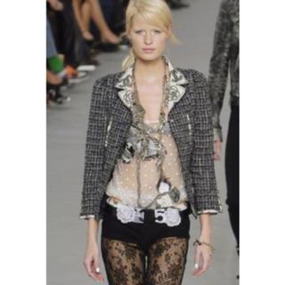 シャネル(CHANEL)のシャネル 美品 Runway ツイード スーツ ジャケット スカート 38(スーツ)