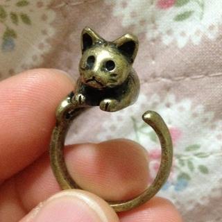 アンティーク  猫の指輪(リング(指輪))