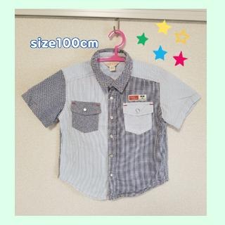 チッカチッカブーンブーン(CHICKA CHICKA BOOM BOOM)の☆~半袖シャツ~100cm☆(ブラウス)