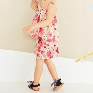 ザラキッズ(ZARA KIDS)の新品 ZARA BabyGirl 花柄 セットアップ 18-24m 92cm(ワンピース)