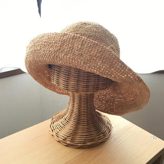 ムジルシリョウヒン(MUJI (無印良品))の無印良品 ラフィアハット/麦わら帽子 折り畳める キャペリン(麦わら帽子/ストローハット)
