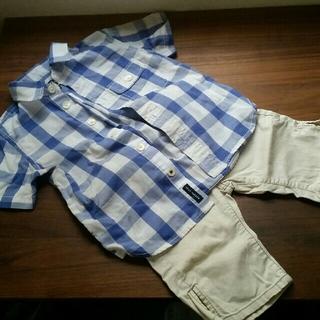 ヘリーハンセン(HELLY HANSEN)のヘリーハンセンシャツとグローバルワークパンツ 100(パンツ/スパッツ)