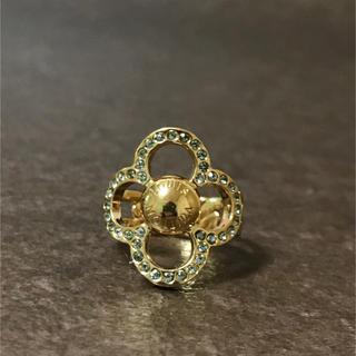 ルイヴィトン(LOUIS VUITTON)の正規品 ヴィトン 指輪 パワーフラワー リング ラインストーン ゴールド 金 2(リング(指輪))