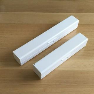 ムジルシリョウヒン(MUJI (無印良品))の無印良品 ラップケース ホワイト 大小セット 中古(収納/キッチン雑貨)