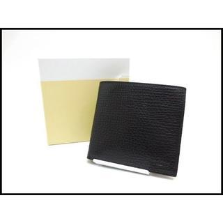 バリー(Bally)のBALLY バリー レザー メンズ 二つ折り財布 黒 美品(折り財布)