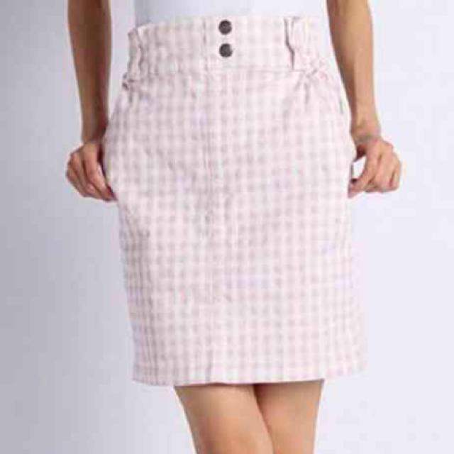 RayCassin(レイカズン)のギンガムチェックタイトスカート レディースのスカート(ひざ丈スカート)の商品写真